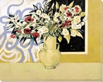 Floral Vase Wrapped Canvas Giclee Print Wall Art