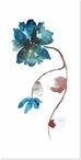 Floral Watercolor Flower I Wrapped Canvas Giclee Print Wall Art