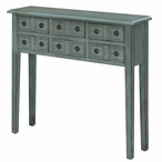 Florence 6 Drawer Teal Wood Console Table