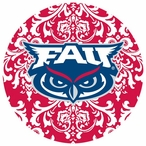 Florida Atlantic Owls Pattern Beverage Coasters, Set of 8