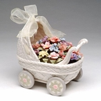 Flower Baby Buggy Musical Music Box Sculpture