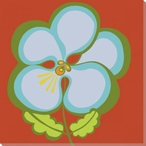Flower Blue Pansy Wrapped Canvas Giclee Print Wall Art
