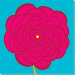 Flower Bright Pink Rose Wrapped Canvas Giclee Print Wall Art
