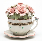 Flower Cup Hinge Box Musical Music Box Sculpture