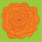 Flower Orange Rose Wrapped Canvas Giclee Print Wall Art