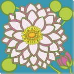 Flower Pond Lily Wrapped Canvas Giclee Print Wall Art