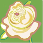 Flower White Rose Wrapped Canvas Giclee Print Wall Art