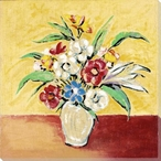 Flowers in a Vase Wrapped Canvas Giclee Print Wall Art