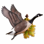 Flying Canada Goose Hand Painted Wall Sculpture by Sam Nottleman