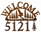 Flying Eagle Bird Metal Address Welcome Sign