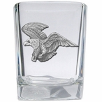 Flying Eagle Bird Pewter Accent Shot Glasses, Set of 4