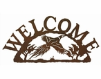 Flying Pheasant Bird Metal Welcome Sign