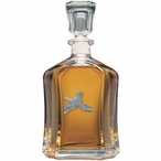 Flying Pheasant Capitol Glass Decanter with Pewter Accents
