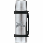 Flying Pheasant Stainless Steel Thermos with Pewter Accent