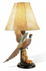 Flying Pheasant Table Lamp with Shade by Sam Nottleman