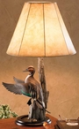 Flying Pintail Duck Table Lamp with Shade by Sam Nottleman