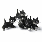 Follow Me Suivez Moi Kittens Playing Cat Statue by Albert Dubout