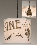 Food from the Farm Canvas Pendant Lamp Light