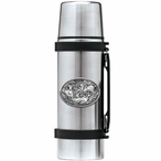 Four Bighorn Sheep Stainless Steel Thermos with Pewter Accent