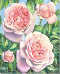 Four Roses Wrapped Canvas Giclee Print Wall Art