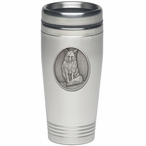 Fox Stainless Steel Travel Mug with Pewter Accent