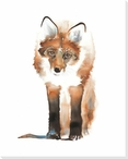 Foxy Wrapped Canvas Giclee Print Wall Art