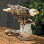 Free Reign Bald Eagle Bird Hand Painted Sculpture