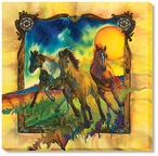 Freedom Horses Wrapped Canvas Giclee Print Wall Art