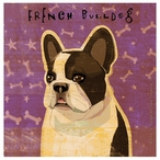 French Bulldog Absorbent Beverage Coasters by John W Golden, Set of 12