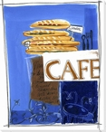 French Cafe Wrapped Canvas Giclee Print Wall Art