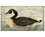 French Goose Bird Vintage Style Metal Sign