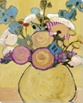 Fresh Cut Spring Bouquet Flowers Wrapped Canvas Giclee Print