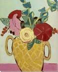 Fresh Cut Summer Bouquet Flowers Wrapped Canvas Giclee Print