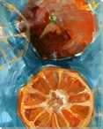 Fresh Oranges Wrapped Canvas Giclee Print Wall Art
