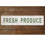 Fresh Produce Embossed Metal Sign