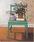 Fresh Start Chair with Flowers Wrapped Canvas Giclee Print Wall Art