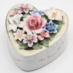 Friend Heart with Flowers Musical Music Box Sculpture