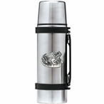 Frog Stainless Steel Thermos with Pewter Accent