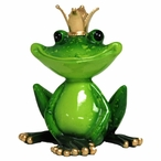 Frog Wearing a Crown Statue