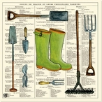 Garden Boots Wrapped Canvas Giclee Print Wall Art