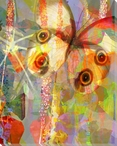 Garden Color Study Butterfly 2 Wrapped Canvas Giclee Print