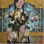 Garden Tapestry Portrait Wrapped Canvas Giclee Print Wall Art