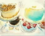 Gateaux Two Cakes Wrapped Canvas Giclee Print Wall Art