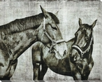 Gathering of Horses 1 Wrapped Canvas Giclee Print Wall Art