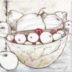 Gatherings Fruits in a Bowl Wrapped Canvas Giclee Print Wall Art