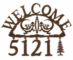 Gecko Metal Address Welcome Sign
