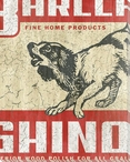 General Store Dog Wrapped Canvas Giclee Print Wall Art