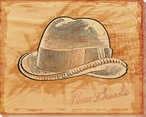 Gentleman's Hat Wrapped Canvas Giclee Print Wall Art