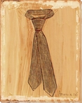 Gentleman's Ties Wrapped Canvas Giclee Print Wall Art