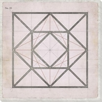 Geometric Pink No 23 Wrapped Canvas Giclee Art Print Wall Art